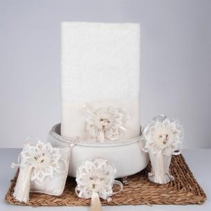 Подарочный набор с полотенцем Nazik Home SWEET кремовый