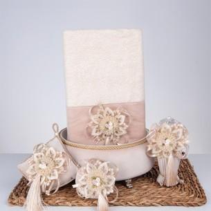 Подарочный набор с полотенцем Nazik Home SWEET бежевый