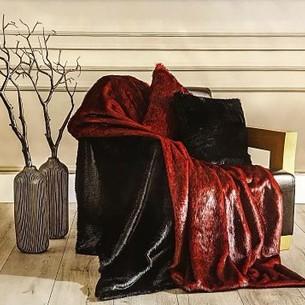 Плед Tivolyo home VISON искусственный мех красный 135х170