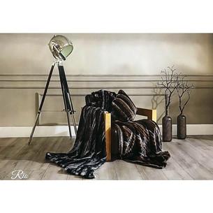 Плед Tivolyo home RIO искусственный мех коричневый 135х170