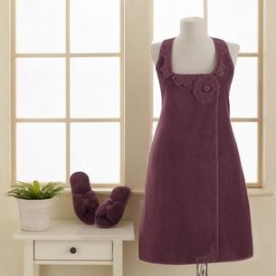 Набор для сауны женский Soft Cotton IRIS махра хлопок фиолетовый S