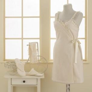 Набор для сауны женский Soft Cotton LUNA махра хлопок молочный M