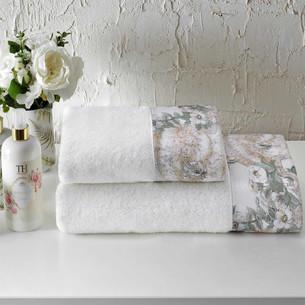 Подарочный набор полотенец для ванной 2 пр. Tivolyo Home NIKITA хлопковая махра