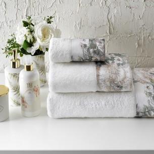 Подарочный набор полотенец для ванной 3 пр. + спрей Tivolyo Home NIKITA хлопковая махра