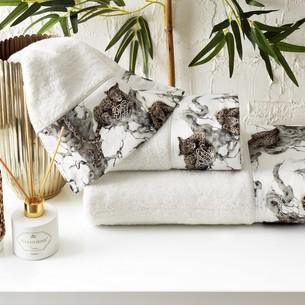 Подарочный набор полотенец для ванной 3 пр. + спрей Tivolyo Home SALOME хлопковая махра