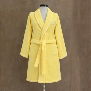 Подарочный набор с халатом Soft Cotton LILIUM хлопковая махра жёлтый L