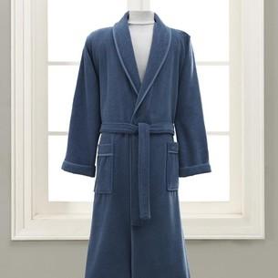 Подарочный набор с халатом Soft Cotton LORD хлопковая махра голубой L