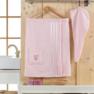 Набор для сауны женский Juanna SEVAKIN махра хлопок розовый