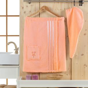 Набор для сауны женский Juanna SEVAKIN махра хлопок персиковый
