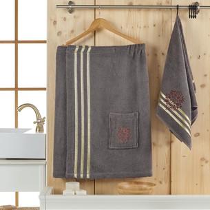 Набор для сауны мужской Juanna SEVAKIN махра хлопок коричневый