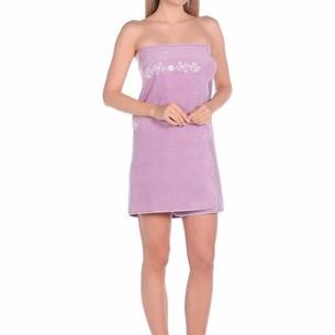 Набор для сауны женский Maison Dor BELLA махра хлопок фиолетовый