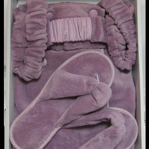 Набор для сауны женский Maison Dor SAUNA SKIRT махра фиолетовый S
