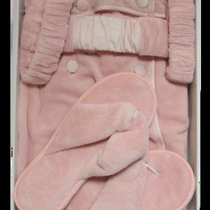 Набор для сауны женский Maison Dor SAUNA SKIRT махра грязно-розовый S