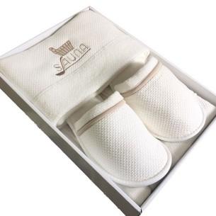 Набор для сауны мужской Maison Dor DUFOUR хлопковая махра кремовый