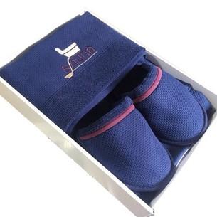 Набор для сауны мужской Maison Dor DUFOUR хлопковая махра синий
