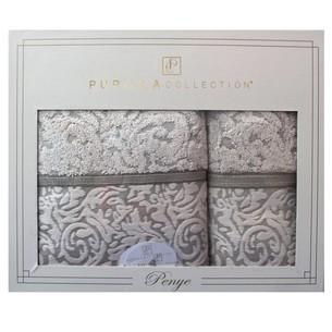 Подарочный набор полотенец для ванной 50х90, 70х140 Pupilla DALLAS хлопковая махра бежевый