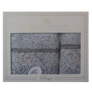 Подарочный набор полотенец для ванной 50х90, 70х140 Pupilla DALLAS хлопковая махра серый