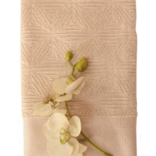 Полотенце для ванной Efor SEDIR хлопковая махра капучино 50х90
