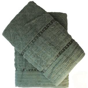 Набор полотенец для ванной 50х90, 70х140 Efor GEOMETRI хлопковая махра зеленый