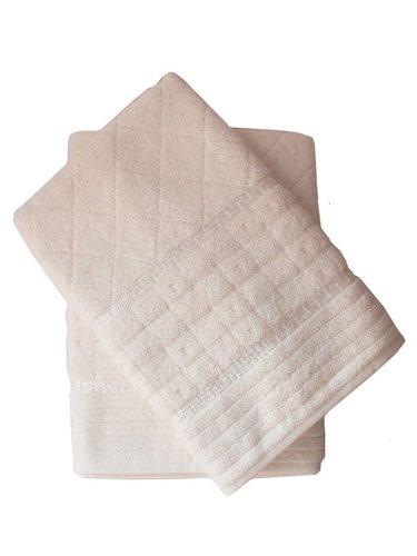 Набор полотенец для ванной 50х90, 70х140 Efor GEOMETRI хлопковая махра кремовый, фото, фотография