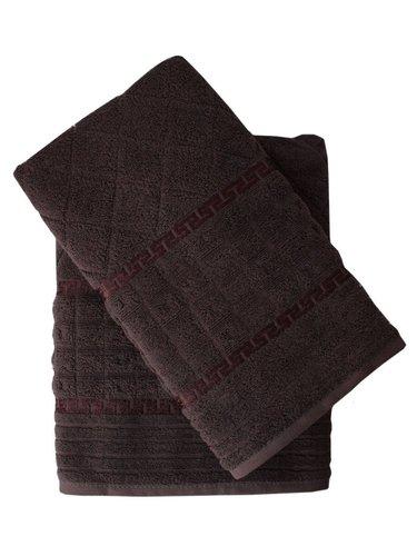 Набор полотенец для ванной 50х90, 70х140 Efor GEOMETRI хлопковая махра серый, фото, фотография