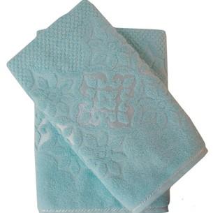 Набор полотенец для ванной 50х90, 70х140 Efor NILUFER хлопковая махра зеленый