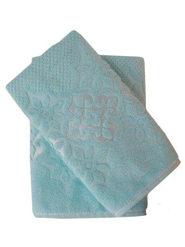 Набор полотенец для ванной 50х90, 70х140 Efor NILUFER хлопковая махра зеленый, фото, фотография