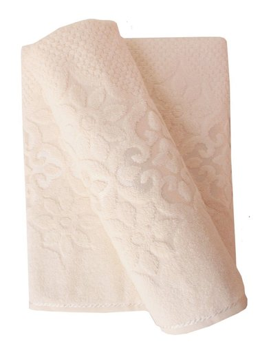 Набор полотенец для ванной 50х90, 70х140 Efor NILUFER хлопковая махра кремовый, фото, фотография