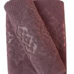Набор полотенец для ванной 50х90, 70х140 Efor NILUFER хлопковая махра лиловый, фото, фотография