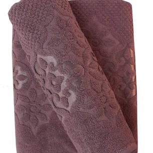 Набор полотенец для ванной 50х90, 70х140 Efor NILUFER хлопковая махра лиловый