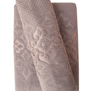Набор полотенец для ванной 50х90, 70х140 Efor NILUFER хлопковая махра серый