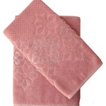 Набор полотенец для ванной 50х90, 70х140 Efor NILUFER хлопковая махра сухая роза, фото, фотография