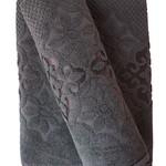 Набор полотенец для ванной 50х90, 70х140 Efor NILUFER хлопковая махра темно-серый, фото, фотография