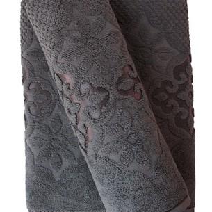 Набор полотенец для ванной 50х90, 70х140 Efor NILUFER хлопковая махра темно-серый