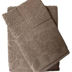 Набор полотенец для ванной 50х90, 70х140 Efor ROSE хлопковая махра бежевый