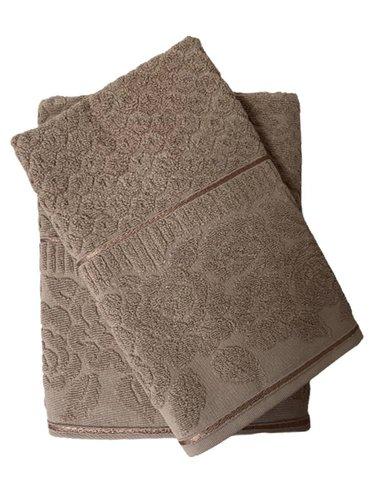 Набор полотенец для ванной 50х90, 70х140 Efor ROSE хлопковая махра бежевый, фото, фотография