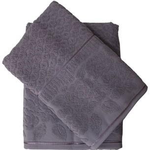Набор полотенец для ванной 50х90, 70х140 Efor ROSE хлопковая махра лиловый