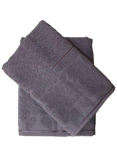 Набор полотенец для ванной 50х90, 70х140 Efor ROSE хлопковая махра лиловый, фото, фотография