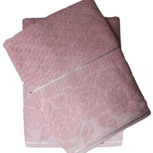 Набор полотенец для ванной 50х90, 70х140 Efor ROSE хлопковая махра пудра