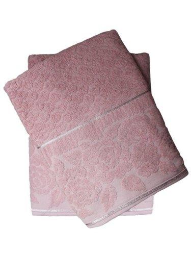 Набор полотенец для ванной 50х90, 70х140 Efor ROSE хлопковая махра пудра, фото, фотография