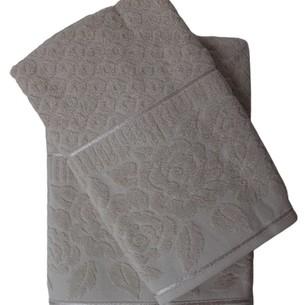 Набор полотенец для ванной 50х90, 70х140 Efor ROSE хлопковая махра светло-бежевый