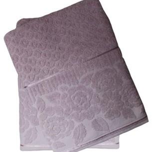 Набор полотенец для ванной 50х90, 70х140 Efor ROSE хлопковая махра светло-лиловый