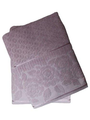 Набор полотенец для ванной 50х90, 70х140 Efor ROSE хлопковая махра светло-лиловый, фото, фотография