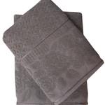 Набор полотенец для ванной 50х90, 70х140 Efor ROSE хлопковая махра хаки, фото, фотография
