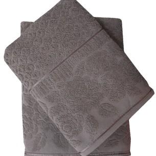 Набор полотенец для ванной 50х90, 70х140 Efor ROSE хлопковая махра хаки