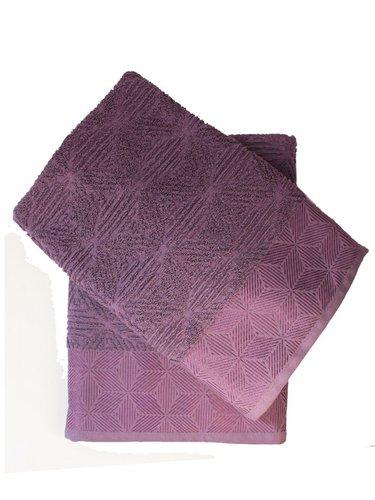 Набор полотенец для ванной 50х90, 70х140 Efor SEDIR хлопковая махра лиловый, фото, фотография