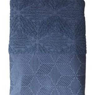 Набор полотенец для ванной 50х90, 70х140 Efor SEDIR хлопковая махра синий