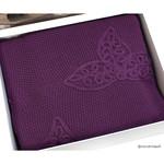Вязаный плед-покрывало Grazie Home ALEGRA фиолетовый 180х240, фото, фотография