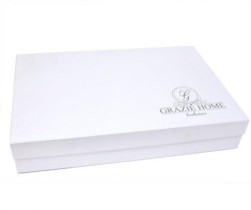 Постельное белье Grazie Home PIAZZE хлопковый сатин делюкс крем-индиго евро, фото, фотография