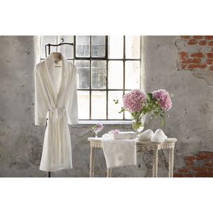 Подарочный набор с халатом Tivolyo Home ANTOINETTE хлопковая махра кремовый L/XL
